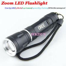 Cheap Cree Q5 LED 240 Lumen 3 Mode Zoomable Mini LED Flashlight