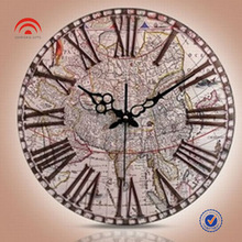 2013 Map Design Wall Clock,Promotion Gifts,Customized Logo is Welcome