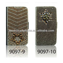 new style shinny star dimond case cover leather protector for Samsung Galaxy S III i9300