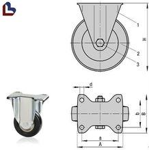 Plastic small fixed caster wheel