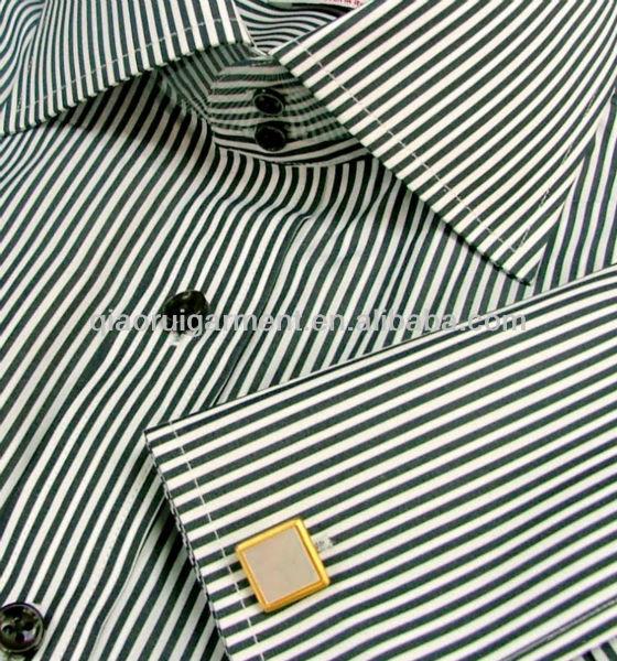 Mens Italian Shirts Men's Black Striped Italian