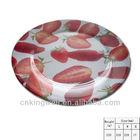 Food safety melamine heated dinner plates