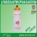 750ml corriendo de plástico de la botella, bpa gratis