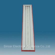 SFD236D T8 Wood Louver Lighting Fixture Decorative waterproof fluorescent luminaries 2x36w