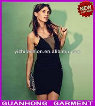 unique design girls sexy black mesh tops