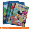 customed A4 printed school cute notebooks
