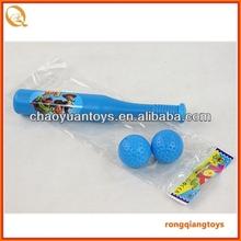 26 cm plastic Baseball bat with ball set in bag SP87302013