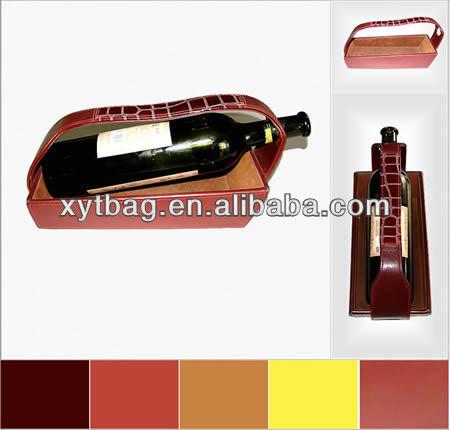 2013 custom leather wine carrier