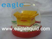 promotion customized design plastic crystal snow globe