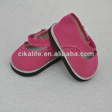 2013toy rojo zapatos de muñecas de 18 pulgadas