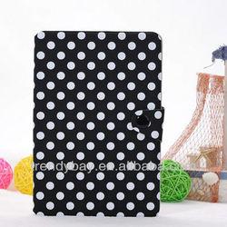 Polka dot book style leather case for ipad mini