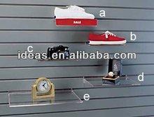 Wall mounted Clear acrylic sneaker shelf
