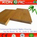 Moso suelo de bambú. Ce certificado pura verde Horizontal carbonizado suelo de bambú