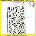 Lettres d'un alphabet autocollants de tatouage