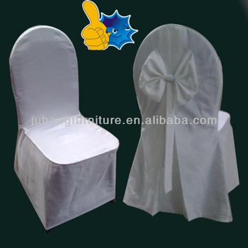 white Fashion Chair Cover& Sash