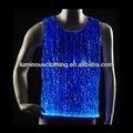 Homem iluminado top/luminosa do homem regata/led vestuário