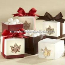 """Maple Leaf"" Favor Box Wedding Favor"