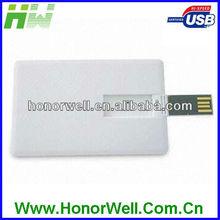Credit card 2GB usb flash key for hot sell free logo