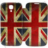 UK Flag Flip Leather+PC Housing Cover Battery Case for Samsung Galaxy S4 SIV i9500 i9505 i9508