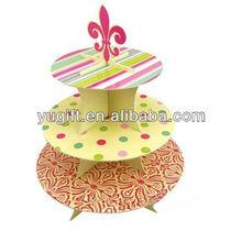 3 Tier Cardboard Cupcake Stand Towers Tree Holder boys girls birthday