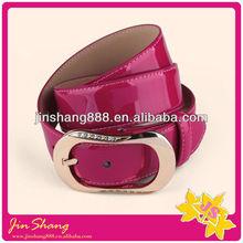 2013 new design high quality italian shiny leather belt