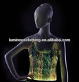 sexy fibra óptica tela luminosa traje superior