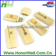 oval-shaped thumb drive use raw wooden mahogany maple and bamboo