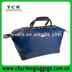 blue leather waterproof golf travel bag