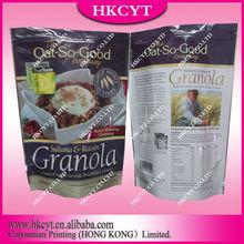 3 side-seal snack food packaging bag/paper coffee bag/kraft paper bag with zipper