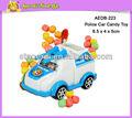bonbons cartoon voiture de police voiture jouet