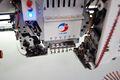 Lj- lentejuelas máquina del bordado de insignias y diseños