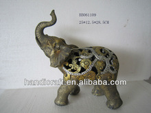 hollow out elephant decoration gift