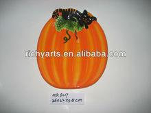 wholesale ceramic pumpkin halloween plate