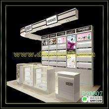 2013 top grade acrylic cosmetics kiosk design /showing your beauty