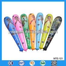 Customized plastic inflatable baseball bat, plastic bat toy