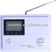 Dual Network GSM&PSTN Alarm System with 99 wireless defense zones and 4 wired zones.