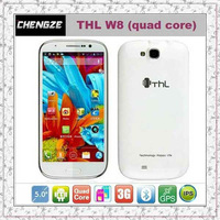 THL W8 MTK6589 1G RAM 4GB ROM Quad core 1.2GHz Smart phone 5 inch screen 1280*720 12MP camera Android 4.1 Smart cell phone