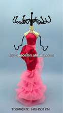 pink wedding dress resin Jewelry Holder