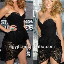 E+H1513 2013 Latest Dress Design for Women, Sexy Club black lace Night Dress black lace cocktail dress,lace evening
