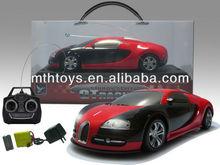 Bugatti 1:18 4ch rc auto, rc auto giocattoli wiht musit& luce, 4ch giocattoli