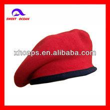lã militar caps boina vermelha