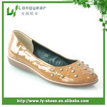 Tan Ladies Casual Flat Shoes