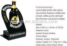 Comprar pantalla Led para el vino tinto llevó la exhibición de la botella del estante de exhibición