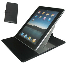 Black Leather Case Stand Holder for iPad 2