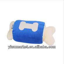 Creative design bone-like inflatable neck pillow plush toy wholesale