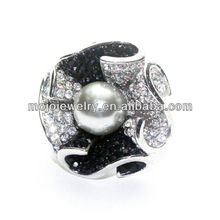 Classic Black and White Diamond Female Cheap Fashion Rings, Yiwu Artificial Jewelry