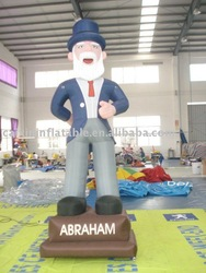 2013 customized inflatable abraham mascot/ giant inflatable old man