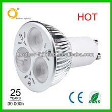 Spot light/3*2W led bulb/3*2W led spot light/6W dimmable GU10 LED Spot light