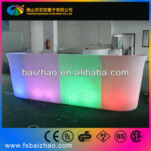 Special and Modern boat style LED bar counter design LED bar furniture