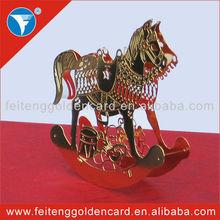 fashion design animal statues metal ornaments for xmas